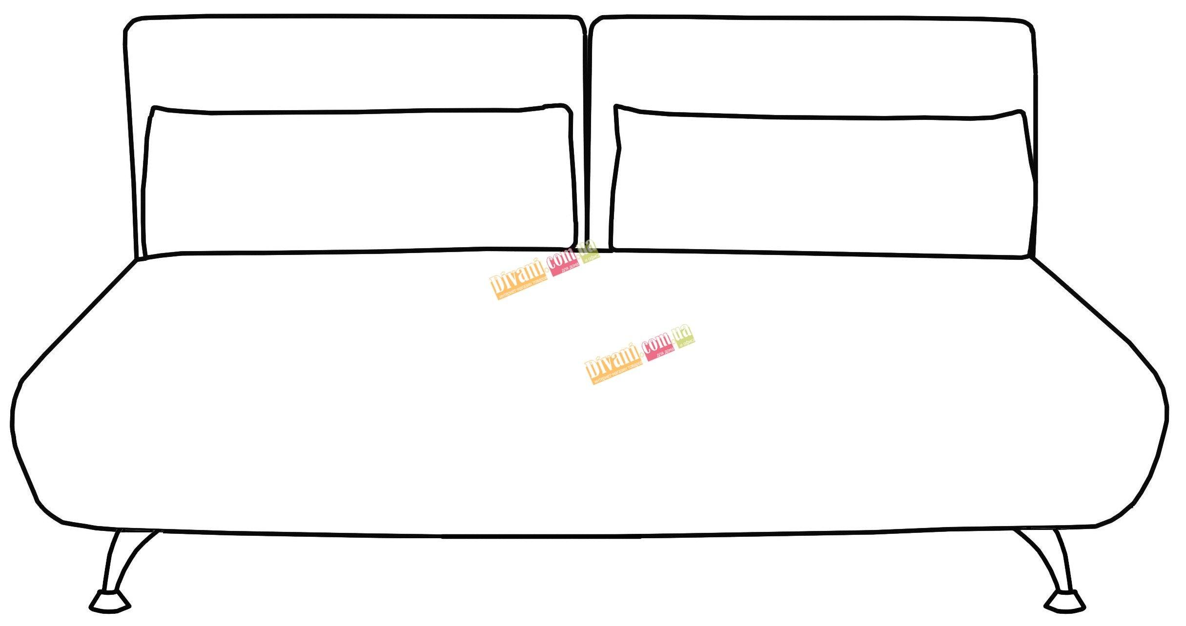 Диван-кровать Flirt-MF180 спинка с разделением
