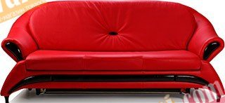 Кожаный диван Жасмин нераскладной
