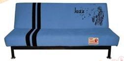 Диван-кровать Fusion New Std2 1,2м с круглой черной ножкой