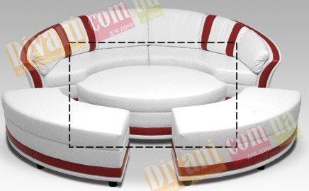 Банкетка круглая Лагуна-2
