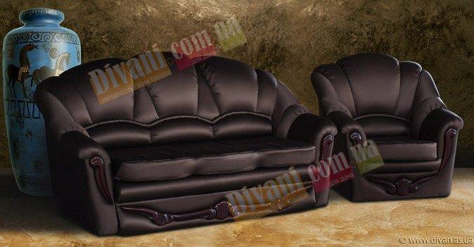 Кожаный диван Сара