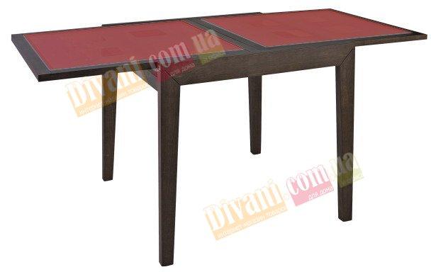 Стол раскладной Сандра красное стекло