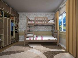 Двухъярусная кровать Комби 2 - 80х120х200см