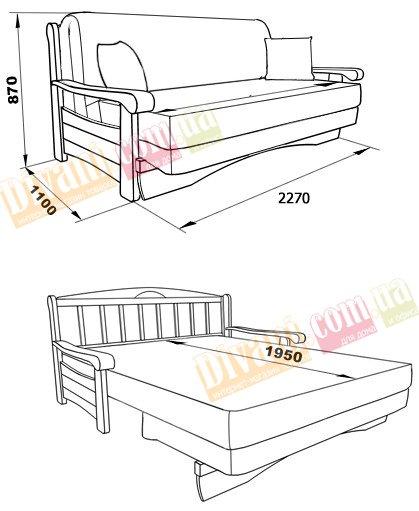 Диван спальное место 200 200 с доставкой