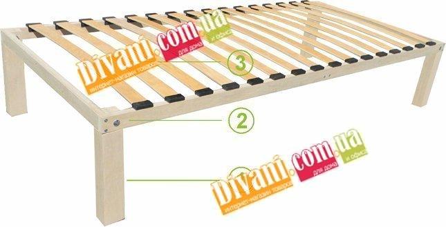 Ортопедический деревянный каркас Viva Extra - ширина 180см