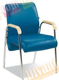 Офисное кресло конференционное LEONARDO wood arm LB