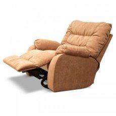 Кожаное кресло Dakota 250-98rs реклайнер + вращение + качание