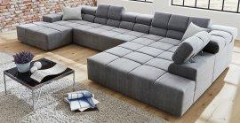 Кожаный модульный диван Мегамакс