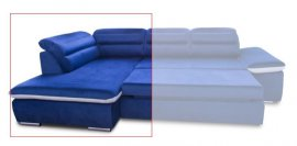 Модуль 1,2 к кожаному модульному дивану Оливер