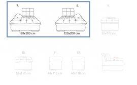 Модуль 7,8 (короб) к кожаному дивану Бронкс