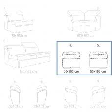 Модуль 4,5 (короб) к кожаному дивану Мартин