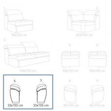 Модуль 6, 7 к кожаному дивану Мартин