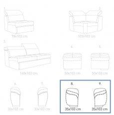 Модуль 8, 9 к кожаному дивану Мартин