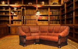 Угловой кожанный диван Маркиз 1,5+угол +2н