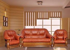 Кожаный диван Маркиз 2н