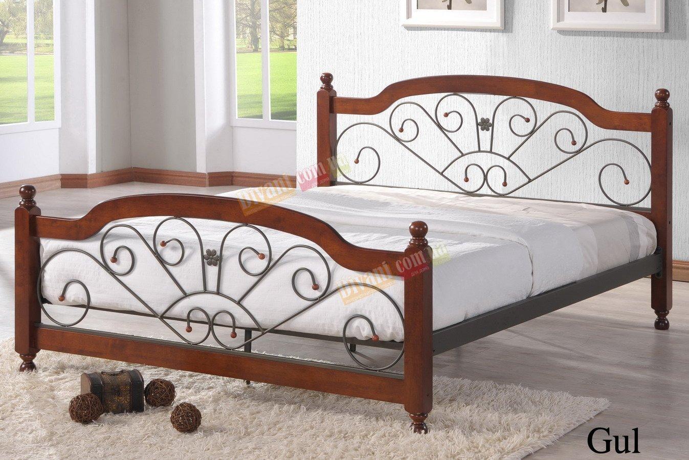 Кровать Onder Metal Metal&Wood Gul 200x180см