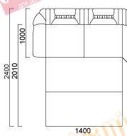 Модуль диван Лувр диван-кровать 3-ка