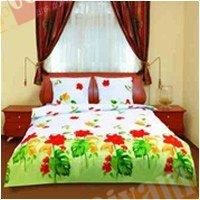 Двухспальный комплект постельного белья Монстера желтая -590