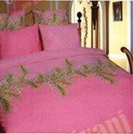 Двухспальный комплект постельного белья Розовый ландыш -654