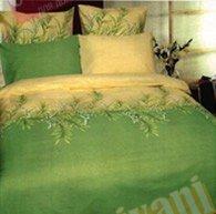 Двухспальный комплект постельного белья Зеленый ландыш -655