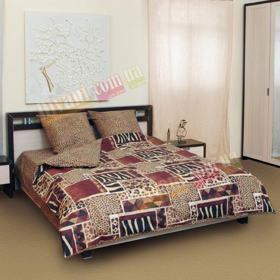 Двухспальный комплект постельного белья Зебра - 508