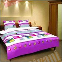 Семейный комплект постельного белья Цветочная абстракция -584