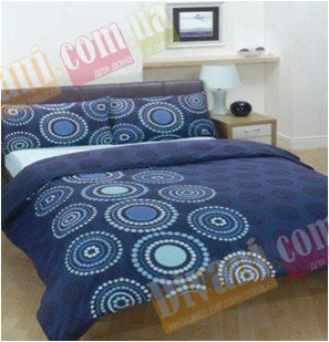 Семейный комплект постельного белья Африкана синяя -724