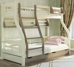 Двухъярусная кровать Светлана - 200x80см и 200 на 120см