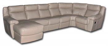 Кожаный модульный диван Гермес
