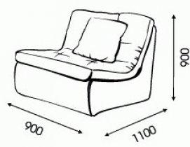 Модульный диван Ромира Шенген - модуль 0,9