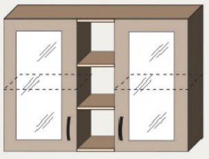 Верх 100 витрина для кухни Марта
