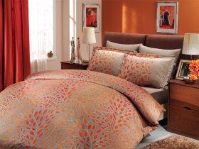 Евро комплект Hobby Premium Sateen Caroline оранж