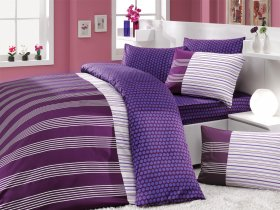 Евро комплект Hobby Premium Sateen Jolly фиолетовый