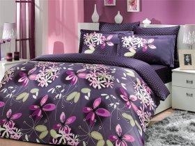 Евро комплект Hobby Premium Sateen Chichek фиолетовый