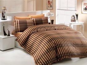 Евро комплект Hobby Premium Sateen Victoria коричневый