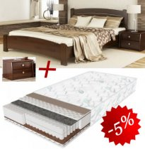 Комплект кровать Венеция Люкс + матрас Daily 2in1 180см + 2 Тумбы В2