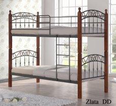 Кровать двухярусная Onder Metal Metal&Wood DD Zlata N (Злата Н) 190x90см