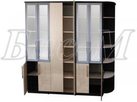 Шкаф со стеклянными дверями Ш - 11ст. «Танго»