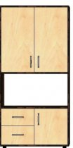 Пенал-стеллаж 3Д/2Ш «Классик»