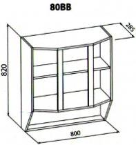 80 верх витрина кухня Павлина