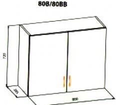 80 верх витрина кухня Ника рамка