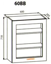 60 верх витрина кухня Кармен