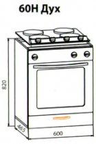 60 низ духовка кухня Кармен