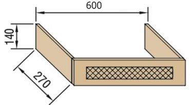Панель над вытяжкой В60ФП Валенсия