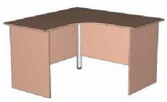 Письменный стол - угловой ИН 11 детской Индиго