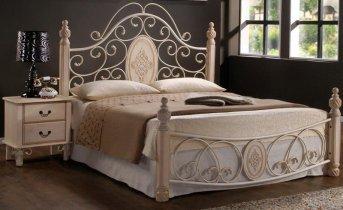 Кровать Onder Metal Metal&Wood Pearl-19 white 200x180см
