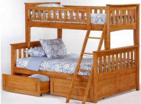 Двухъярусная кровать трансформер Chaswood Жасмин - 90/140см