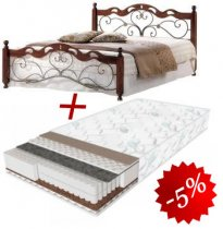 Комплект кровать Helen N + матрас Daily 2in1 180x200см