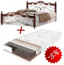 Комплект кровать Helen N + матрас Classic 2in1 160x200см
