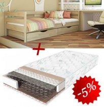 Комплект кровать Нота + матрас Classic 2in1 80см + 2 ящика